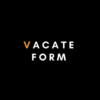Vacate Form